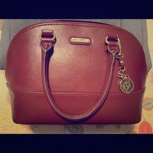 Anne Klein handbag purse in wine red color